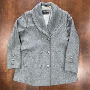 Guess Wool Heather Grey Jacket